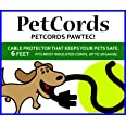 PETCORDS Mini 6Ft Dog And Cat Cord Protector-Protects Your Pets From Chewing Through Charging Cables. Fits- Iphone, Android A