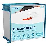 LUCID Encasement Mattress Protector - Completely Surrounds Mattress for Waterproof, Allergen Proof, Bed Bug Proof Protection