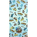 林(Hayashi) バスタオル ブルー 約70×140cm 大判 ビーチ Disney ウインド ミッキー&ドナルド LJ456200