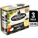 Strongbow Apple Cider Medium Dry Can, 320ml (Pack of 3)