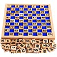 Amberetech Wooden Toys Hundred Board Montessori 1-100 Consecutive Numbers Wooden Educational Game for Kids with Storage Bag,S