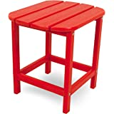 """POLYWOOD SBT18SR South Beach 18"""" Outdoor Side Table, Sunset Red"""