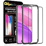 OAproda iPhone 11 / iPhone XR ガラスフィルム 全面保護 強化ガラス【ガイド枠付き/ケースに干渉しない】アイフォン 11 / XR (6.1インチ) 用 フィルム