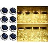 Solar Mason Jar Lid String Lights, 8 Pack 20 Led String Fairy Star Firefly Jar Lids Lights (Jars Not Included), for Mason Jar