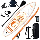 FunWater Inflatable 10'x31''x6'' Stand UP Paddle Board Ultra-Light (17.6lbs) Everything Included ISUP, Adj Paddle, Kayak Seat