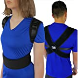 "ComfyMed® Posture Corrector Clavicle Chest Support Brace for Men and Women CM-PB16 (LGE 41"" to 47"") Medical Device to Improve"