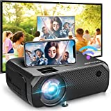 Bomaker WiFi Mini Projector, 150 ANSI Lumen Portable Projector, 1080P Full HD Supported, Wireless Mirroring, Native 1280x720P