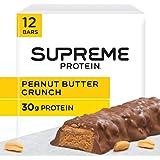 Supreme Protein 30g Protein Bar, Peanut Butter Crunch, 3.38 fl oz Bar, (12 Count)