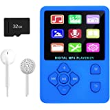 MP3 Player, Music Player with 32GB Micro SD Card, Portable Music Player with Build-in Speaker, HiFi Lossless Sound, FM Radio,
