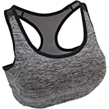 Racerback Workout Bras High Impact Sports Bra Running Bras for Women with High Support Removable Pads for Yoga Gym Fitness