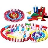 OKSANO ドミノ倒し 積み木 天然木製 知育玩具 カラフル12カラー 子供 プレゼント 大人も子供も楽しめる おもちゃ