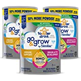 Go & Grow by Similac Toddler Drink, 3 Cans, with 2'-FL HMO for Immune Support and 25 Key Nutrients to Help Balance Toddler Nu
