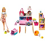 Barbie GRG90 Doll and Pet Boutique Playset