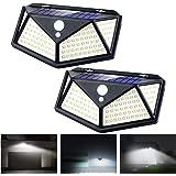 Apsung Solar Lights Outdoor,114 LED [3 Working Mode 1200mAh 120° Wide-Angle sensor] Solar Motion Sensor Lights,IP65 Waterproo