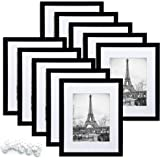 upsimples Picture Frame Set of 17,Photo Frames for Wall or Tabletop Display,Gallery Wall Frame Set, Black, 8x10-10pack