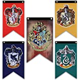 """Harry Potter Hogwarts House Banner - 20"""" x 12"""" Birthday Party Decoration Gifts - Gryffindor, Slytherin, Hufflepuff, Ravenclaw"""