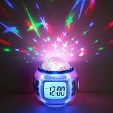 目覚まし時計 デジタル時計 プロジェクター アラーム 星空投影 七色発光 プラネタリウム