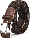 メッシュベルト Bulliant ベルト メンズ 純色 ゴム ベルト 編み込み ストレッチベルト カジュアル ファッション ギフトボックス付き
