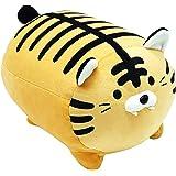 "Cute Plush Tiger Doll Stuffed Fluffy Tiger Plush Toy Soft Animal Plush Pillow for Kids (Brown Tiger, 13.7"")"
