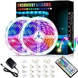 Led Strip Lights 10M, RGB Color Changing Led Strip Lights Super Bright with 44 Keys Remote Controller for Bedroom Room TV Par