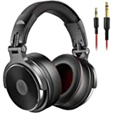 OneOdio Adapter-free Closed-Back DJ Studio Headphones for Monitoring and Mixing, Protein Leather Earcups, Noise Isolation, 90