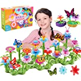 Kyerivs Gifts for 3 4 5 6 7 Year Old Girls, Flower Garden Building Toys Set for Kids Toddles 46 PCS Creative Educational Gard