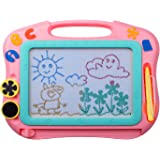 ikidsislands IKS85P [Travel Size] Color Magnetic Drawing Board for Kids, Doodle Board for Toddlers, Sketch Pad Toy for Little