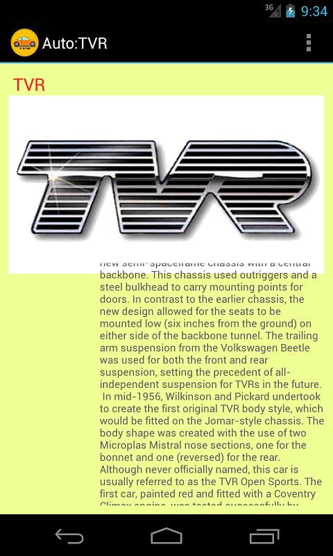 Auto : TVR
