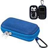 AGPTEK MP3 Player Case,Portable Clamshell Headphones Cover,Holder with Metal Carabiner Clip,for MP3 Players, iPod Nano,iPod S