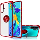 Huawei P30 Pro Case, [360° Ring Stand] Crystal Clear [Electroplated Metal Technology] Silicone Soft TPU [Shockproof Protectio
