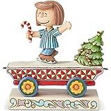 Enesco Peanuts by Jim Shore Peppermint Patty Train Car Figurine, 4.25 Inch, Multicolor