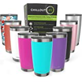 CHILLOUT LIFE 20 oz Stainless Steel Tumbler with Lid & Gift Box | Double Wall Vacuum Insulated Travel Coffee Mug with Splash
