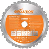 Evolution Power Tools RAGE230BLADE 9-Inch Multipurpose Cutting Blade for Steel, Aluminum, Wood With Nails In, and Plastics