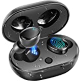 BassPal True Wireless Earbuds, IPX7 Waterproof 27H Playtime AAC 8.0 CVC 8.0 Bluetooth Earphones Earbuds with Hi-Fi Deep Bass