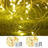 2 Pack 33Ft 10M Fairy Lights Indoor String Light Twinkle Lights with Remote for Bedroom Wedding Garden Patio Party Decorative