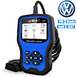 Car Code Reader for VW Audi Skoda Seat All Series, Enhanced AP7610 Multi-System Diagnostic Scanner With Transmission EPB ABS