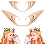 FRESHME 2 Pairs Elf Ears - Medium and Long Style Cosplay Fairy Pixie Elf Ears Soft Pointed Ears Tips Anime Party Dress Up Cos