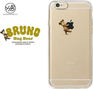 &y HB 【iPhone6s / iPhone6 両対応】 4.7インチ ソフト TPU ケース キャラクター クマ 光沢タイプ BEAR HUG BRUNO(ブルーノ) A クリア HB001
