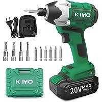 KIMO コードレスインパクトドライバー 20V インパクトドライバー 充電式 無段変速・正逆転両用 ブラシレスモーター…