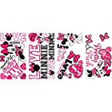 RoomMates RMK2180SCS Minnie Loves Pink Peel and Stick Wall Decals