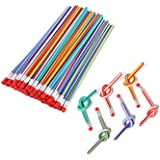 Flexible Bendy Pencil, 35 PCS Flexible Soft Pencil Colorful Stripe Soft Pencils with Eraser as Students or Children