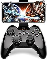iPhone ios Bluetooth コントローラー Dinofire Apple認証 日本MIC認証 MFi コントローラー Tello iPhone iPad iPod touch 対応 ゲームパッド PUBGに非対応(黒)