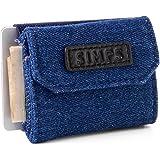 【SIMPS】財布 極小財布 小さい財布 高級本革 デニム メンズ レディース ユニセックス 職人手作り まとめて 収納…