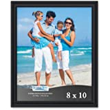 Icona Bay Picture Frames Picture Frame Set, Wall Mount or Table Top, Inspirations Collection, Plastic, Black, 8x10