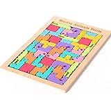 WEIHEEE テトリスパズル ジグソーパズル 木製 パズルゲーム 動物模様 知育玩具 おもちゃ 子供用