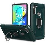 Pelanty Moto G8 Power ケース リング Motorola Moto G8 Power ケース 背面カバー 人気TPU アーマーカバー 耐衝撃 横置きスタンド機能 スマホケース 360°回転 車載ホルダー対応 全面保護 落下防止 携