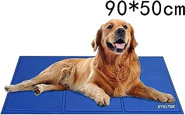 EVELTEK ペット犬・猫用ひんやりシート 多用途 車用 PC用 ひえひえ爽快冷却シート 涼感冷感シート 犬猫の暑さ対策品 90 * 50cm 中・大型犬用
