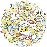 50 Pcs Kawaii Sumikkogurashi Anime Cartoon Stickers Japanese Anime Laptop Stickers for Kids Girls Teens Water Bottles Bicycle