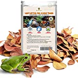 SunGrow Dwarf Frog Leaf Litter, 2 Inches, Mini Leaves for Boosting Microfauna, Regulates Humidity Inside Terrarium, Provides