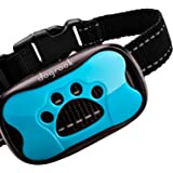 DogRook Rechargeable Dog Bark Collar - Humane, No Shock Barking Collar - w/2 Vibration & Beep Modes - Small, Medium, Large Do